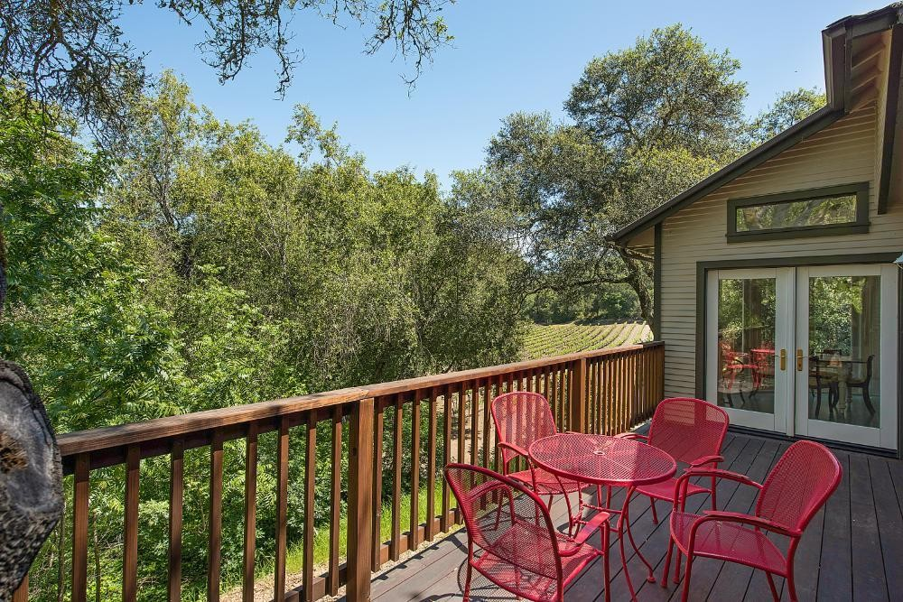 Oak Tree House deck